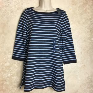 NWT Lands' End XS Petite Blue Top Tunic
